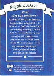 2002 Topps American Pie Sluggers Gold #5 Reggie Jackson back image