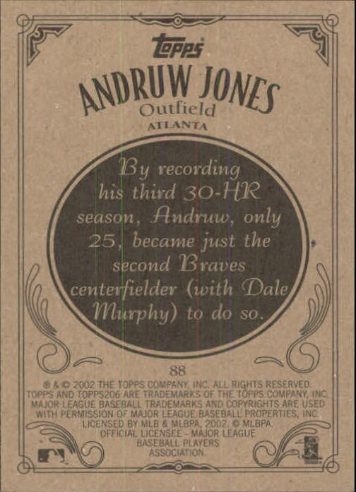 2002 Topps 206 #88 Andruw Jones back image