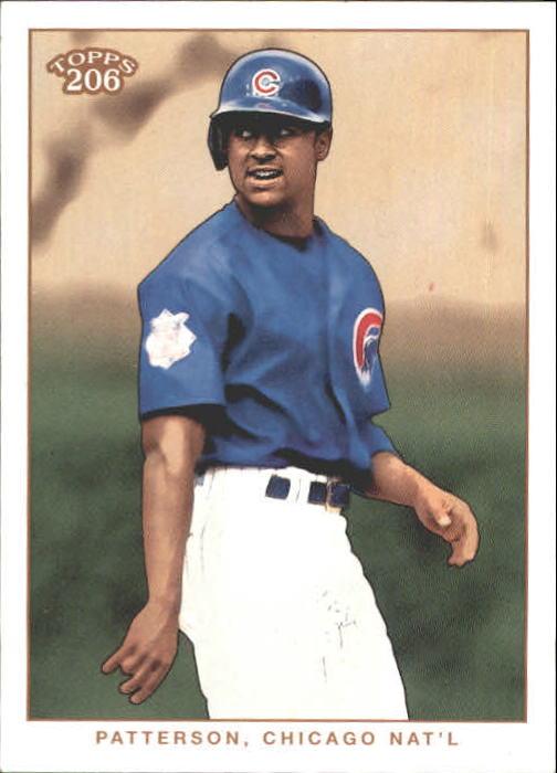2002 Topps 206 #196A Corey Patterson Blue Jsy