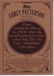 2002 Topps 206 #196B Corey Patterson Pinstripes back image