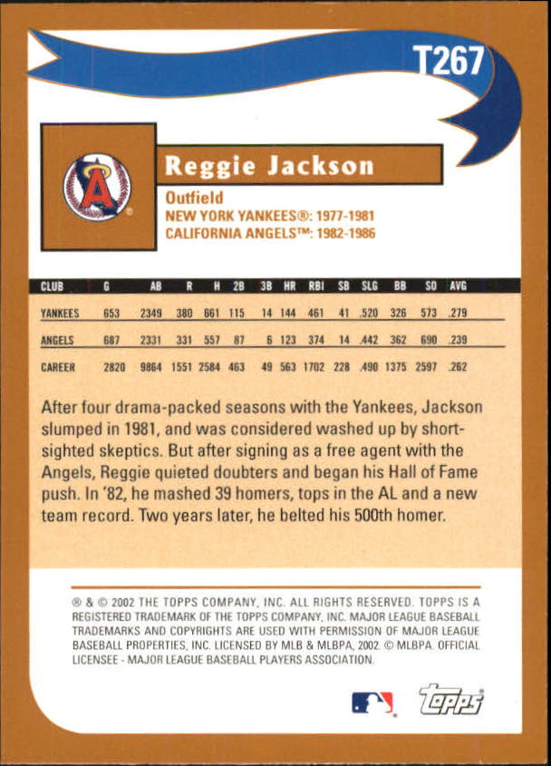 2002 Topps Traded #T267 Reggie Jackson WW back image