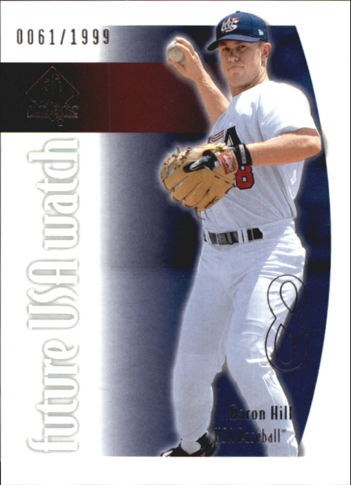 2002 SP Authentic USA Future Watch #USA14 Aaron Hill