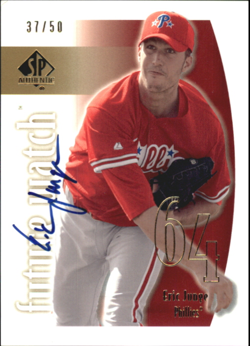 2002 SP Authentic Limited Gold #160 Eric Junge FW AU