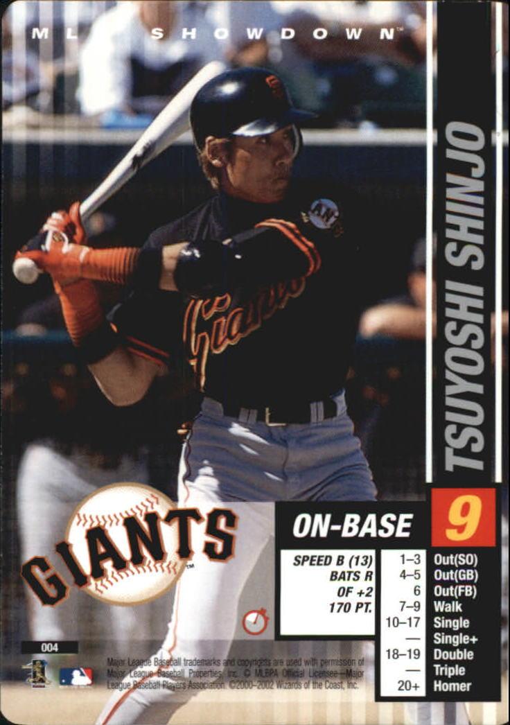 2002 MLB Showdown Trading Deadline #4 Tsuyoshi Shinjo