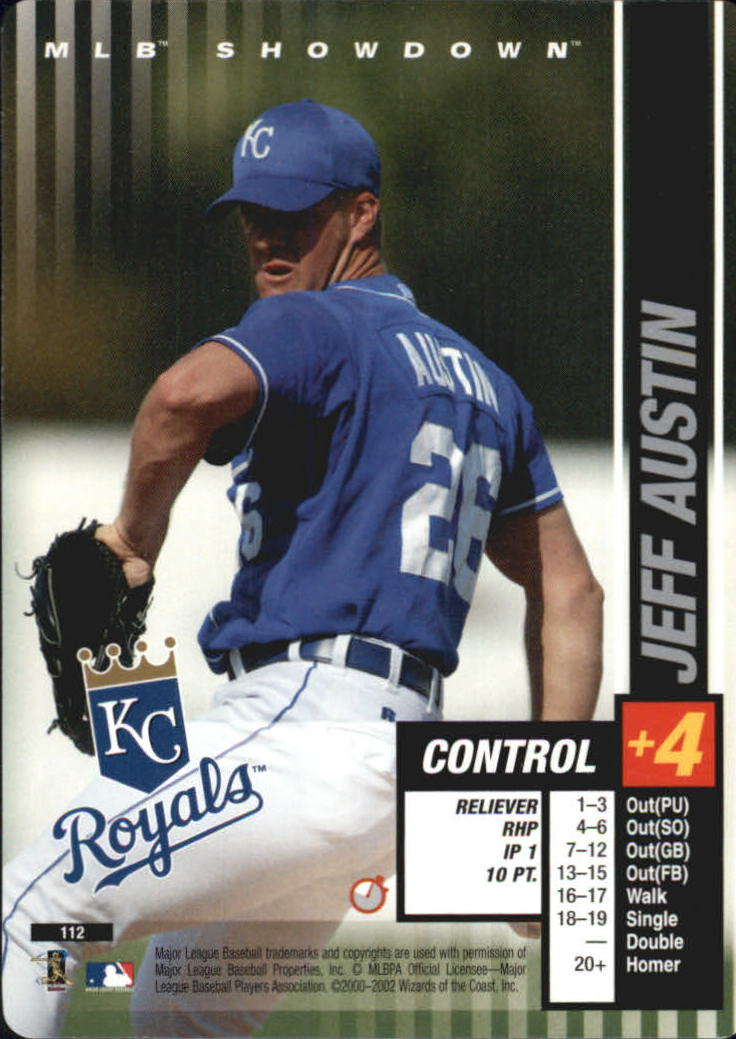 2002 MLB Showdown Trading Deadline #112 Jeff Austin RC