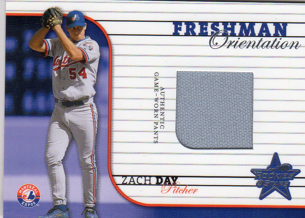 2002 Leaf Rookies and Stars Freshman Orientation #15 Zach Day Pants