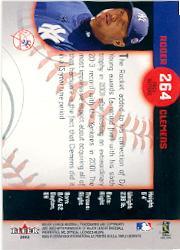 2002 Fleer Triple Crown #264 Roger Clemens PS back image