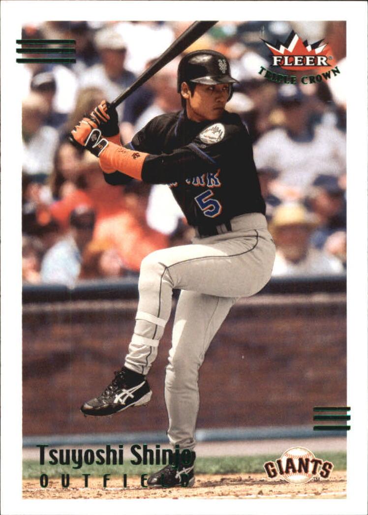 2002 Fleer Triple Crown Batting Average Parallel #163 Tsuyoshi Shinjo/268