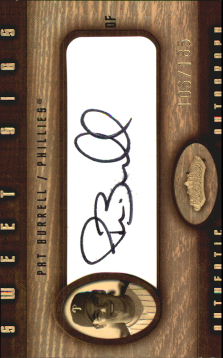 2002 Fleer Showcase Sweet Sigs Leather #3 Pat Burrell/35