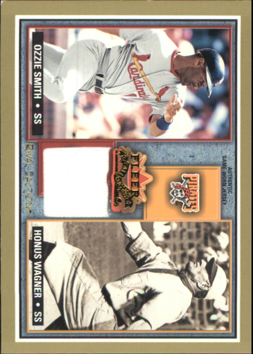 2002 Fleer Fall Classics Rival Factions Game Used #55 Ozzie Smith Jsy-Wagner