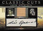 2002 Fleer Classic Cuts Game Used Autographs #LAB Luis Aparicio Bat/45