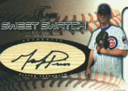 2002 Flair Sweet Swatch Bat Autograph #14 Mark Prior/285