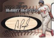 2002 Flair Sweet Swatch Bat Autograph #15 Albert Pujols/50