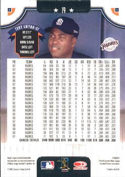 2002 Donruss #19 Tony Gwynn back image