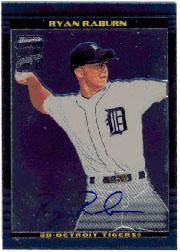 2002 Bowman Chrome #389 Ryan Raburn AU A RC