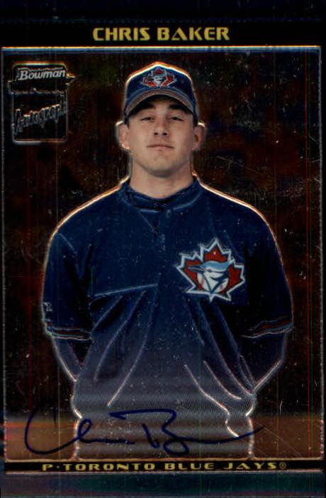2002 Bowman Chrome #405 Chris Baker AU A RC