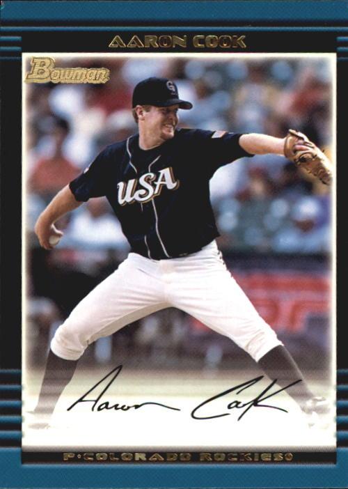 2002 Bowman Draft #BDP122 Aaron Cook