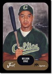 2002 Just Prospects Black #10 Nelson Cruz