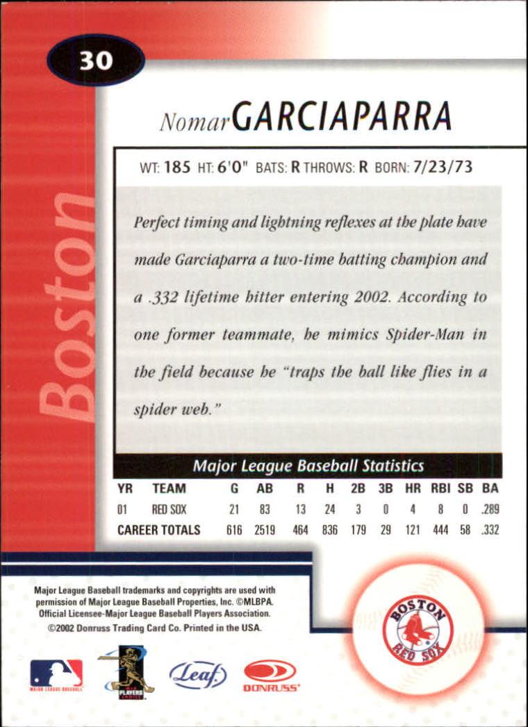 2002 Leaf Certified #30 Nomar Garciaparra back image