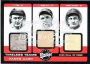 2002 Upper Deck Vintage Timeless Teams Game Jersey Combos #HOF Ty Cobb Pants/Babe Ruth Pants/Honus Wagner Pants SP