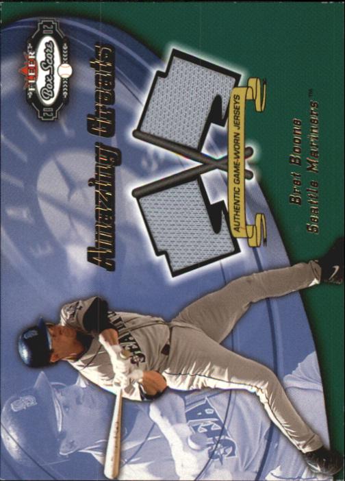 2002 Fleer Box Score Amazing Greats Dual Swatch #3 Bret Boone