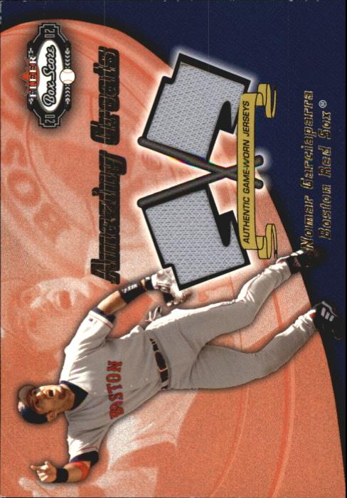 2002 Fleer Box Score Amazing Greats Dual Swatch #5 Nomar Garciaparra