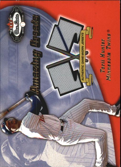 2002 Fleer Box Score Amazing Greats Dual Swatch #6 Torii Hunter