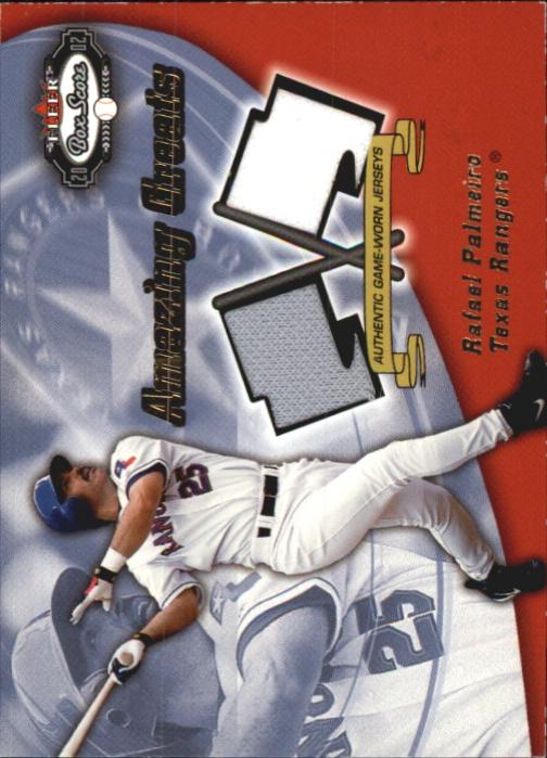 2002 Fleer Box Score Amazing Greats Dual Swatch #9 Rafael Palmeiro
