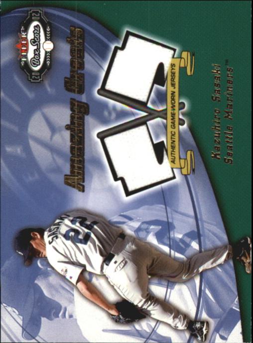 2002 Fleer Box Score Amazing Greats Dual Swatch #13 Kazuhiro Sasaki