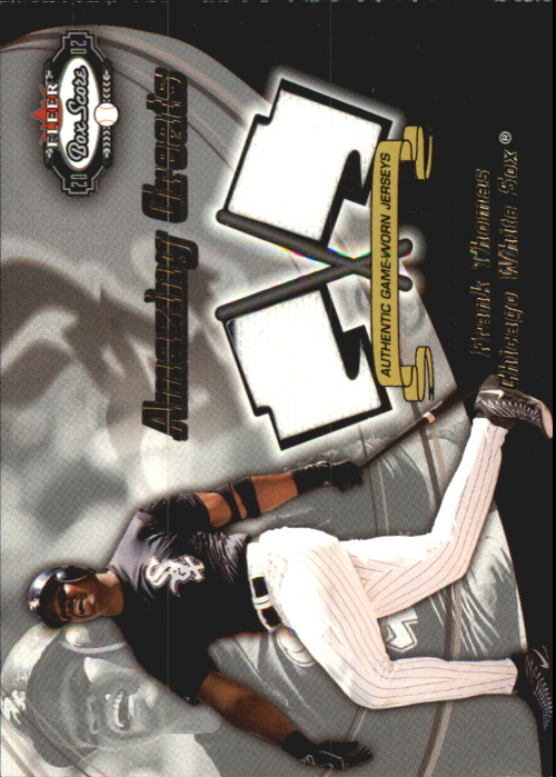 2002 Fleer Box Score Amazing Greats Dual Swatch #14 Frank Thomas