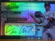 2002 Absolute Memorabilia Absolutely Ink #16 Eric Chavez SP/100