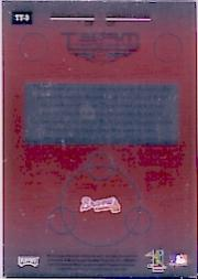 2002 Absolute Memorabilia Team Tandems Materials #TT3 Chipper Jones Bat/Andruw Jones Bat back image