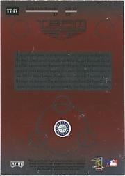 2002 Absolute Memorabilia Team Tandems Materials #27 Ichiro Suzuki Deck/Kazuhiro Sasaki Deck SP back image