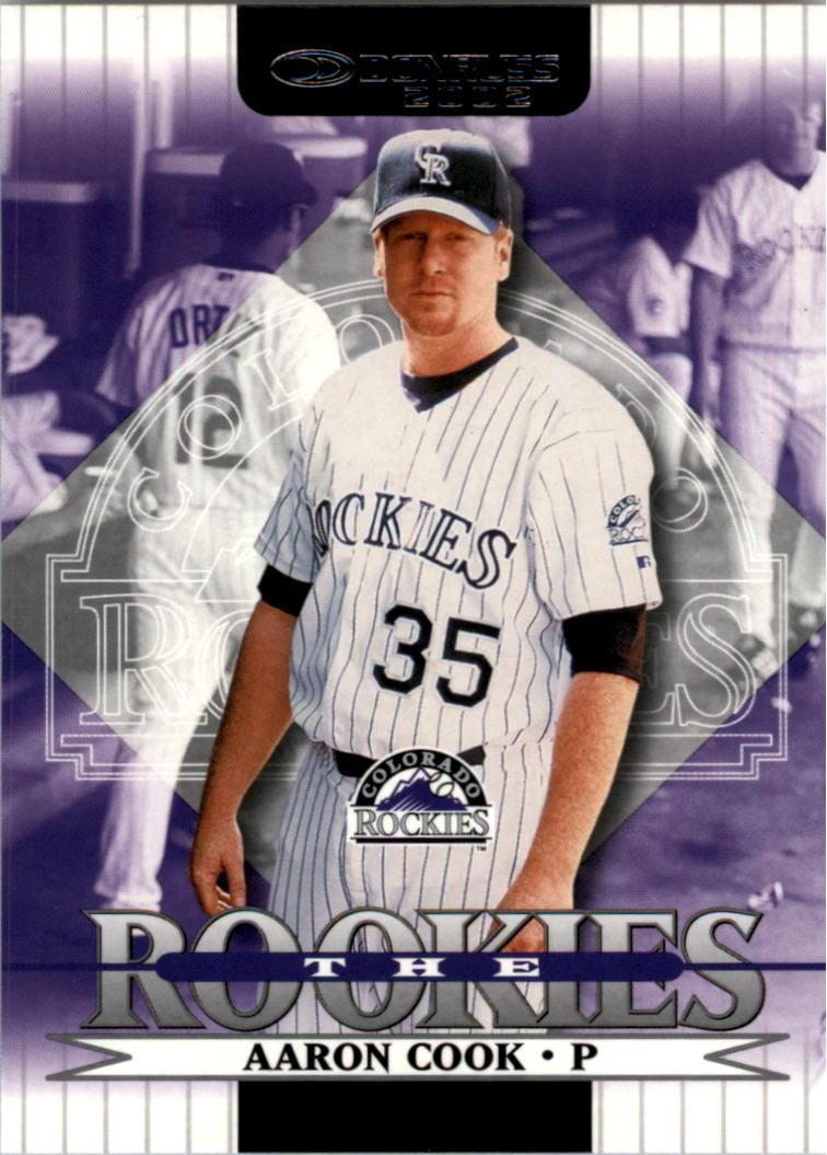 2002 Donruss Rookies #53 Aaron Cook RC