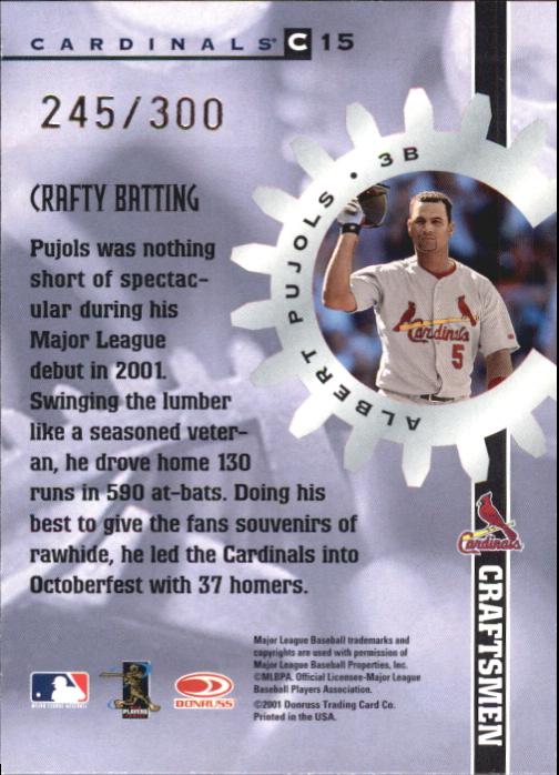 2002 Donruss Best of Fan Club Craftsmen #C15 Albert Pujols/275 back image