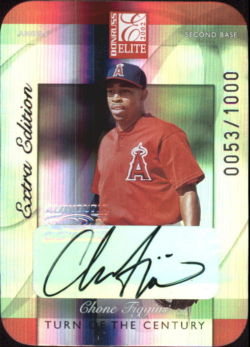 2002 Donruss Elite Turn of the Century Autographs #240 Chone Figgins/100*