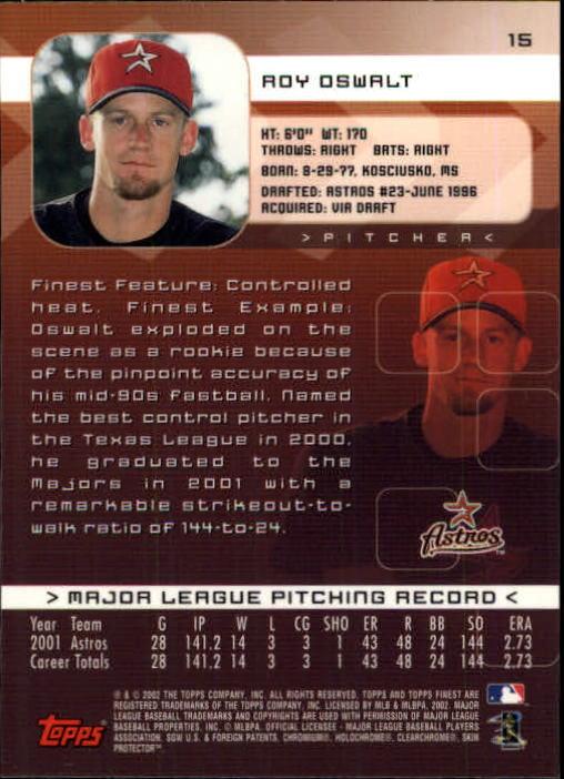 2002 Finest #15 Roy Oswalt back image