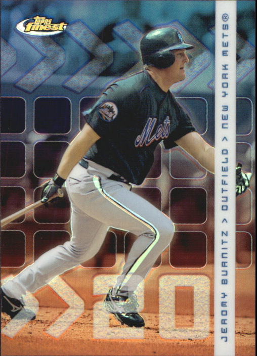 2002 Finest Refractors #92 Jeromy Burnitz