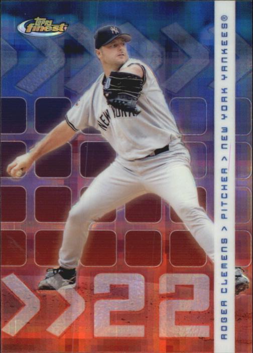 2002 Finest X-Fractors #52 Roger Clemens