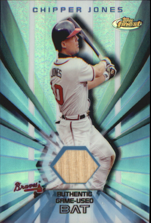 2002 Finest Bat Relics #FBRCJ Chipper Jones