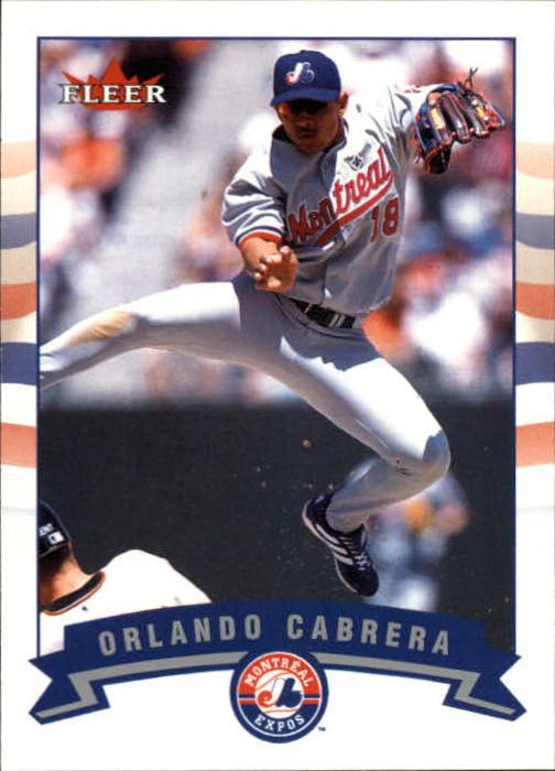 2002 Fleer #250 Orlando Cabrera