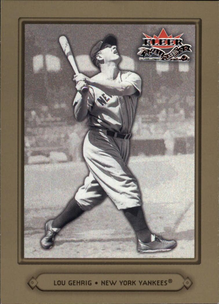 2002 Fleer Fall Classics #4 Lou Gehrig