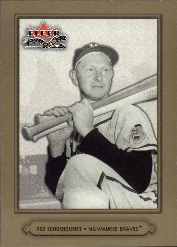 2002 Fleer Fall Classics #17A Red Schoendienst Braves