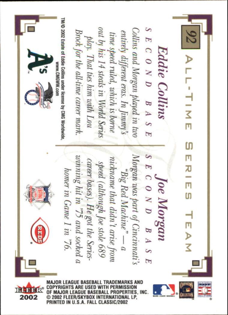2002 Fleer Fall Classics #92 E.Collins/J.Morgan back image