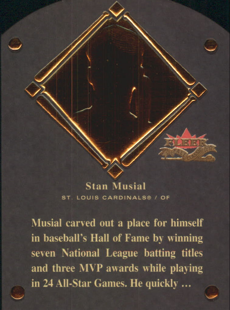 2002 Fleer Fall Classics HOF Plaque #12 Stan Musial/1969