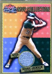 2002 Fleer Fall Classics MVP Collection Game Used Gold #RJOK Reggie Jackson A's Jsy