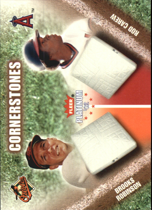 2002 Fleer Platinum Cornerstones Numbered #32 B.Robinson/R.Carew
