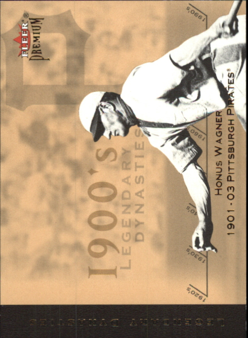 2002 Fleer Premium Legendary Dynasties Gold #1 Honus Wagner