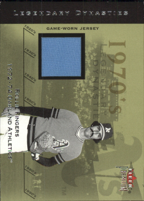 2002 Fleer Premium Legendary Dynasties Game Used #6 Rollie Fingers Jsy
