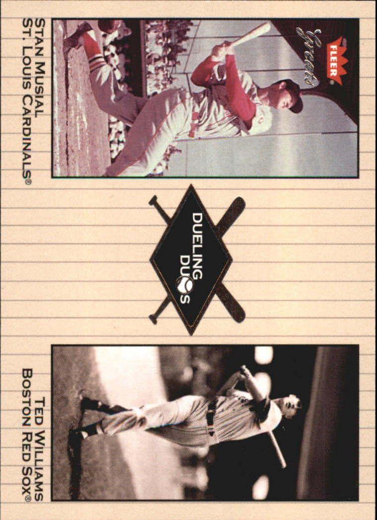2002 Greats of the Game Dueling Duos #3 S.Musial/T.Williams